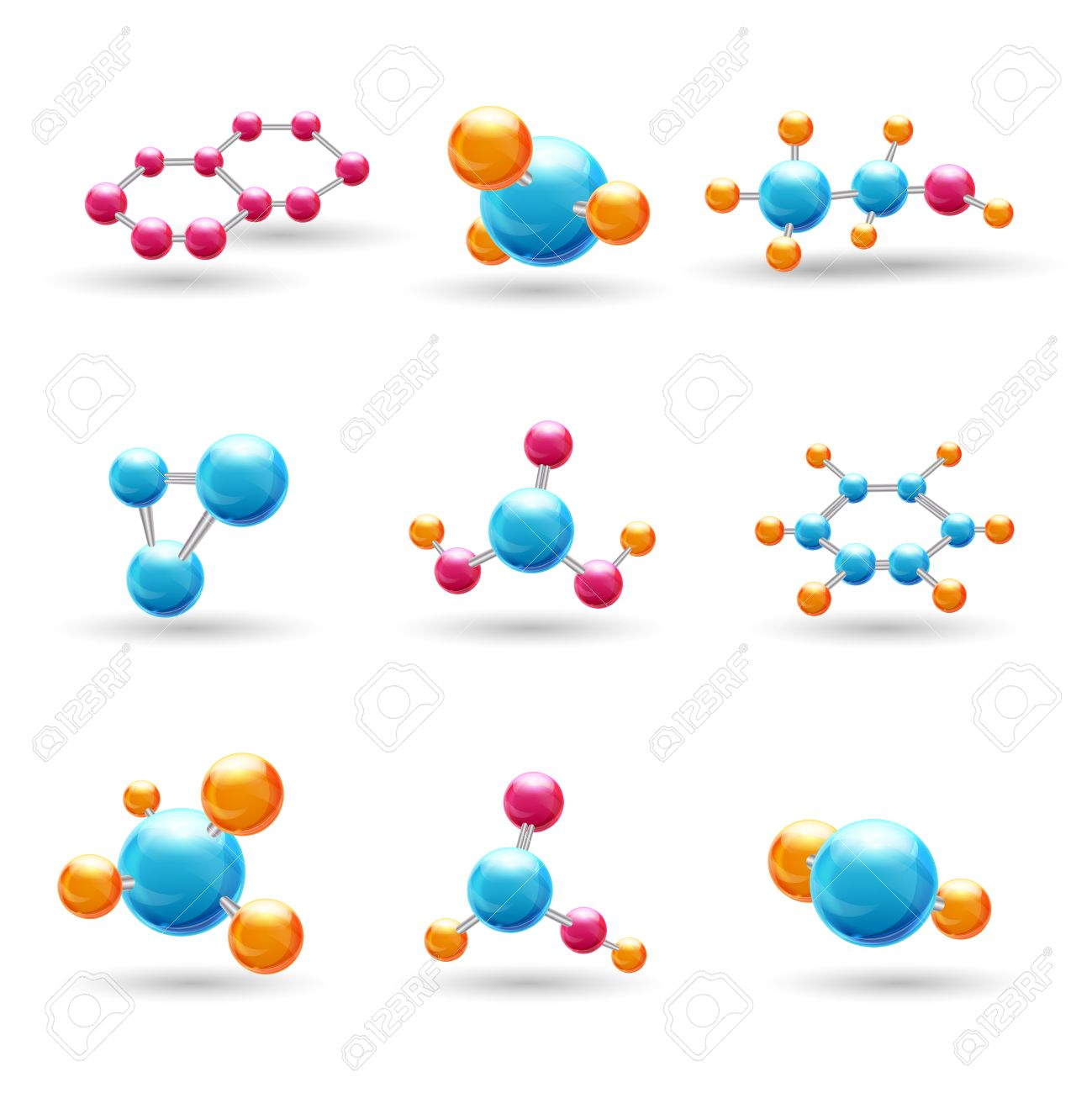 3d atomic structure chemical molecule models isolated vector 3d atomic structure chemical molecule models isolated vector illustration stock vector 32133167 ccuart Gallery