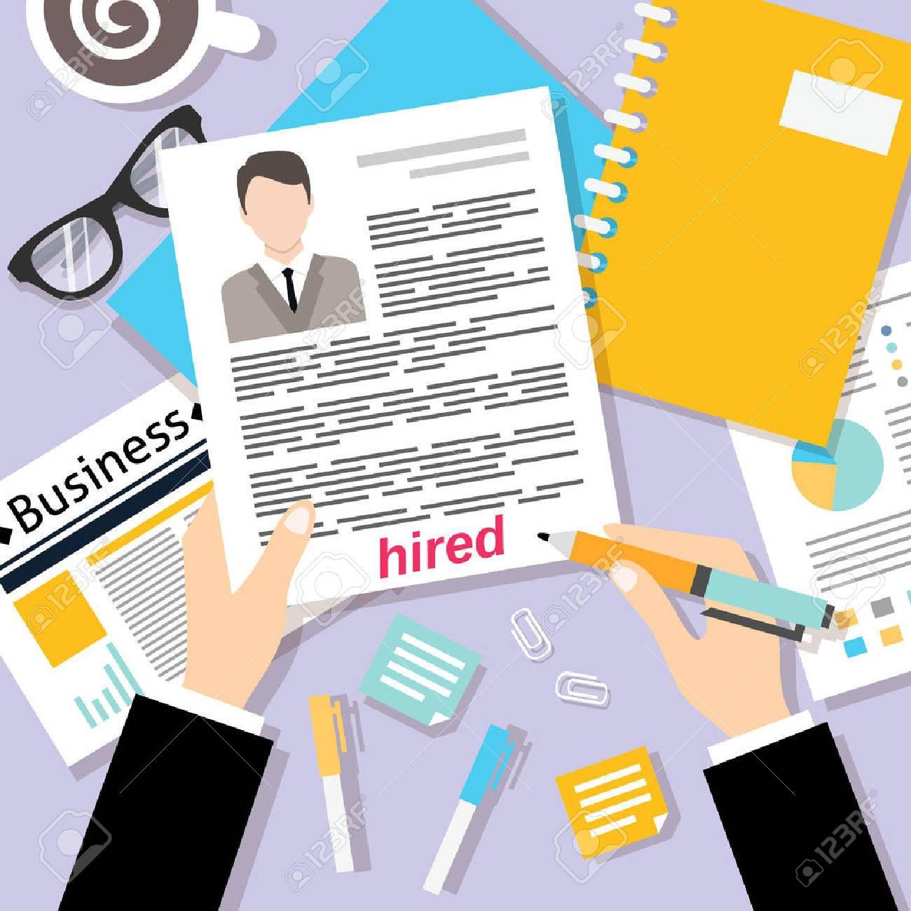 Vorstellungsgespräch-Konzept Mit Business Cv Lebenslauf Vektor ...