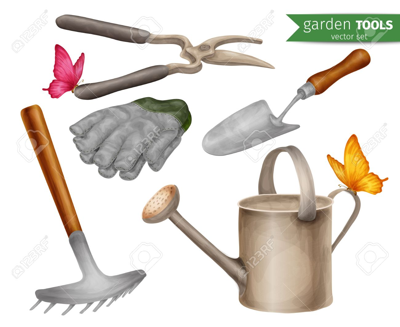 Wonderful Garden Tools Farming Agriculture Equipment Decorative Icons Set Isolated  Illustration. Stock Vector   32939852