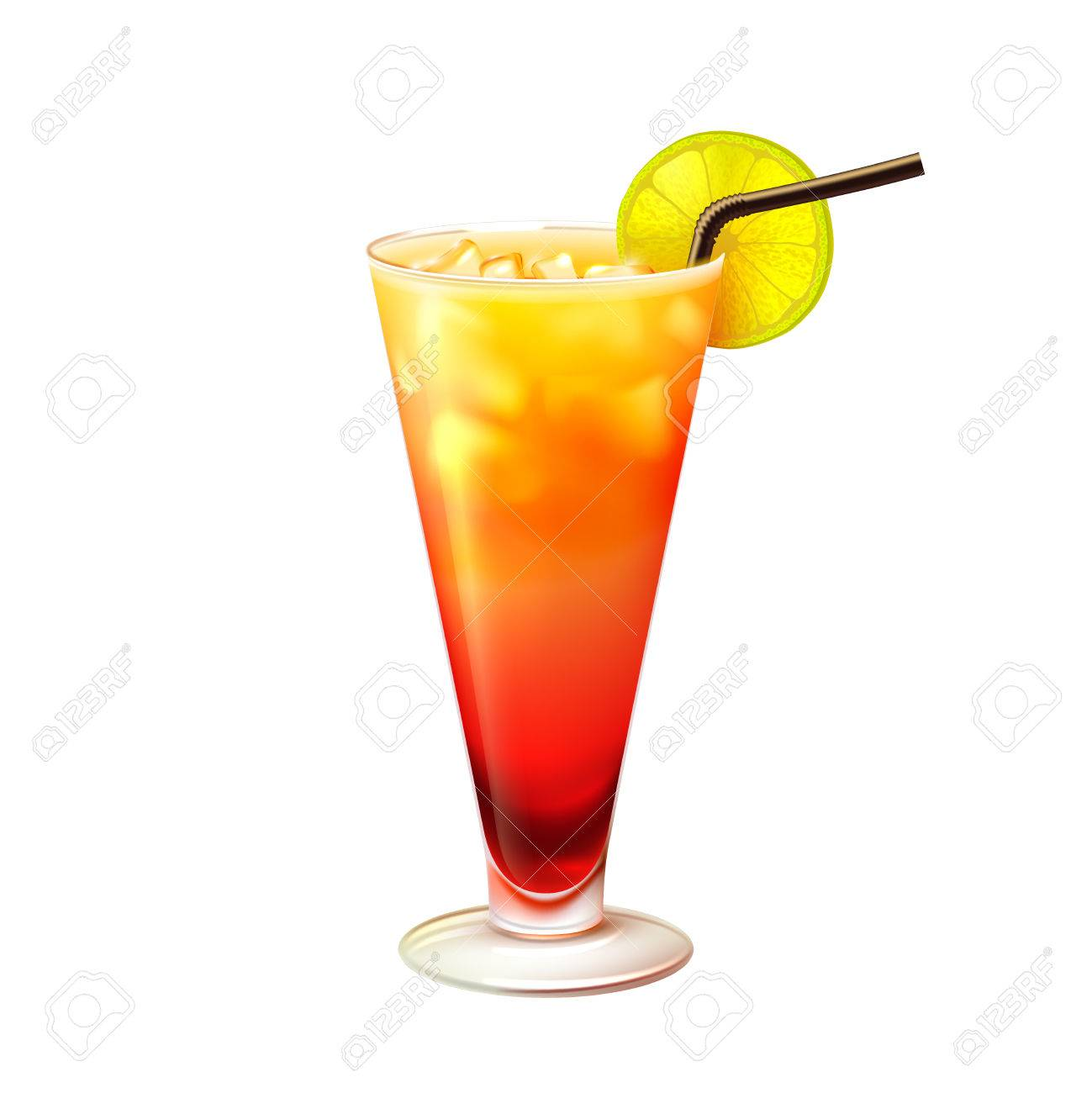 tequila sunrise realistic cocktail in glass with lemon slice rh 123rf com Margaritaville Clip Art Margaritaville Clip Art