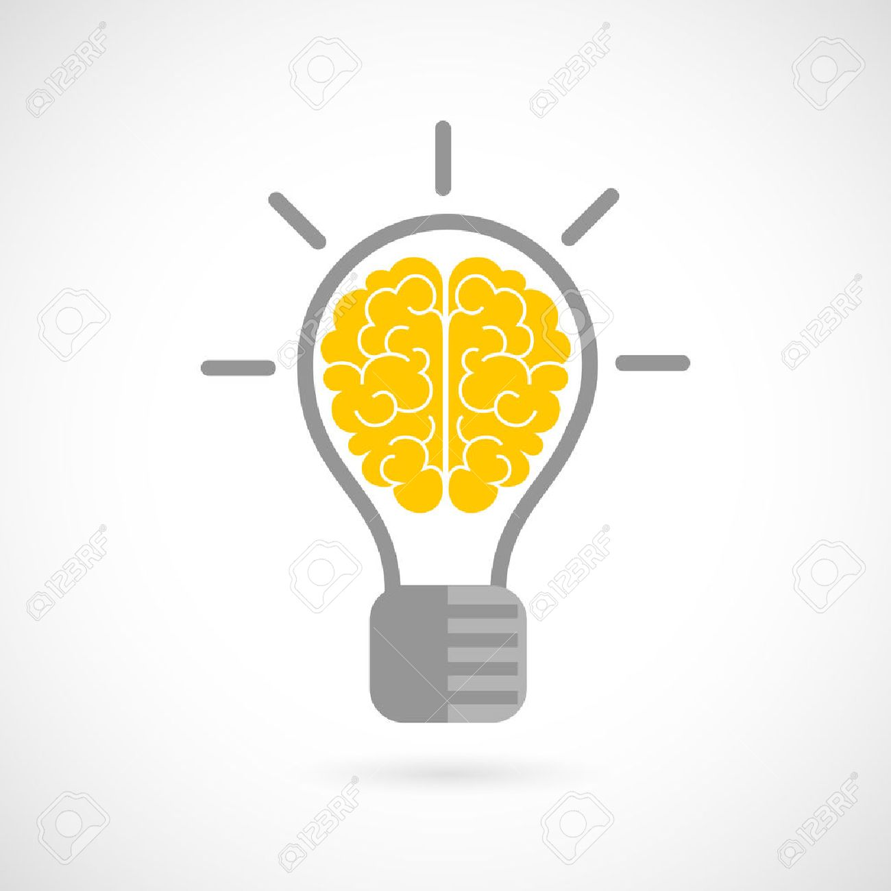 電球アイデア コンセプト フラット アイコン白い背景ベクトル イラスト