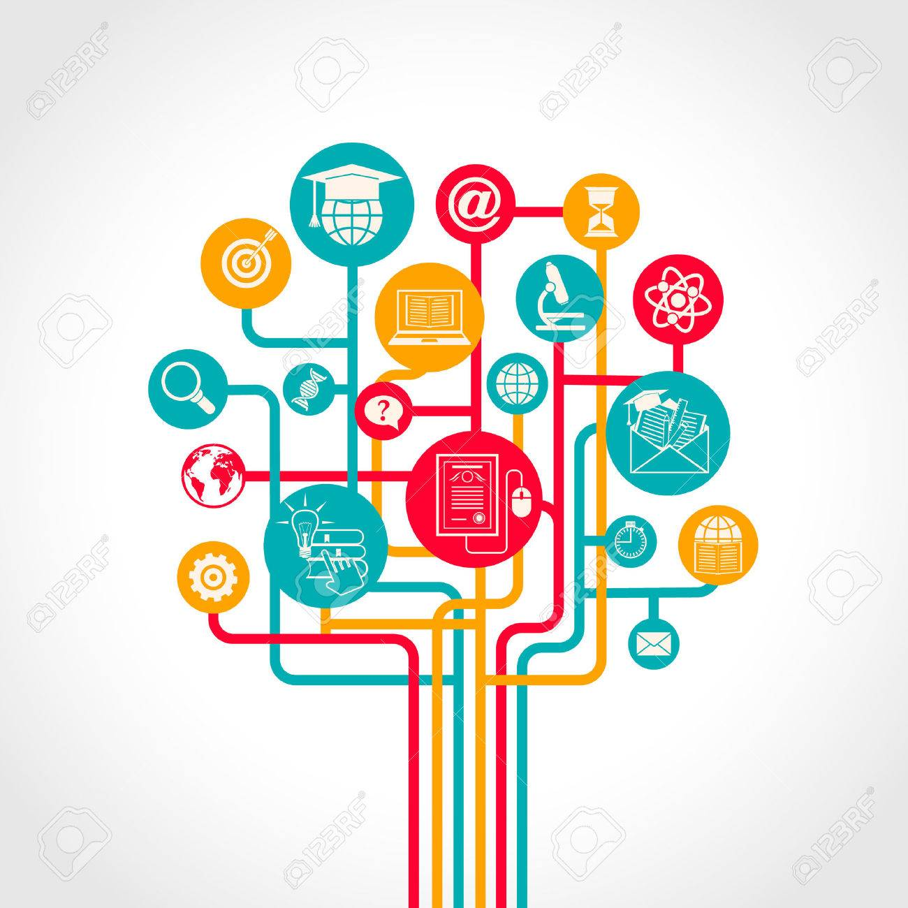 Online Education Tree Concept With E-learning Training Resources ...