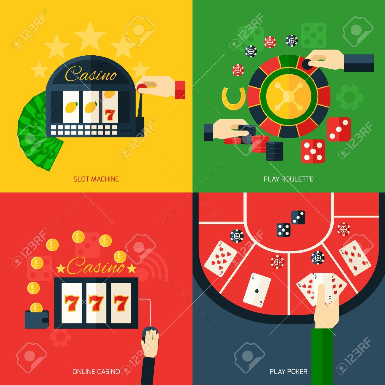 Slot machine roulette gambling online casino chip key