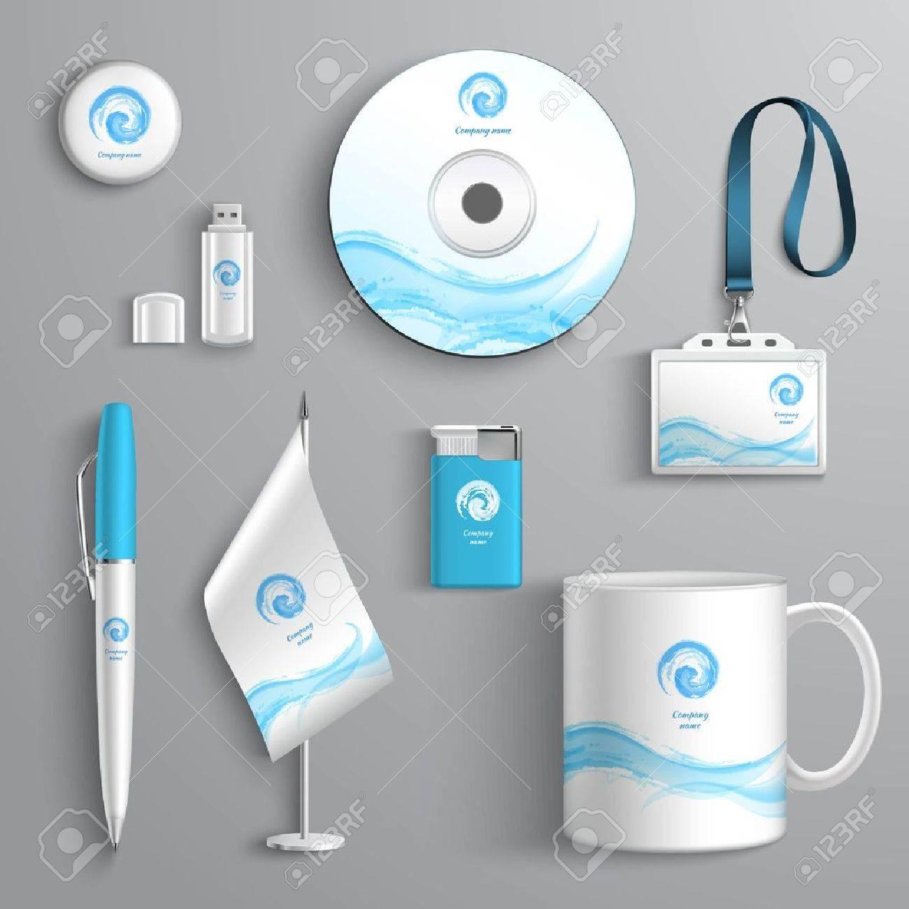 Elementos De Diseño De Papelería Identidad Empresarial Corporativa ...