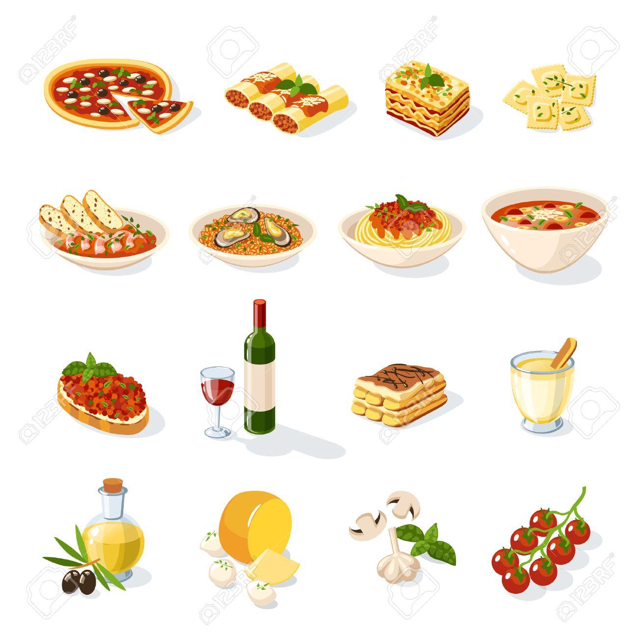 イタリア料理 のイラスト素材ベクター 123rf
