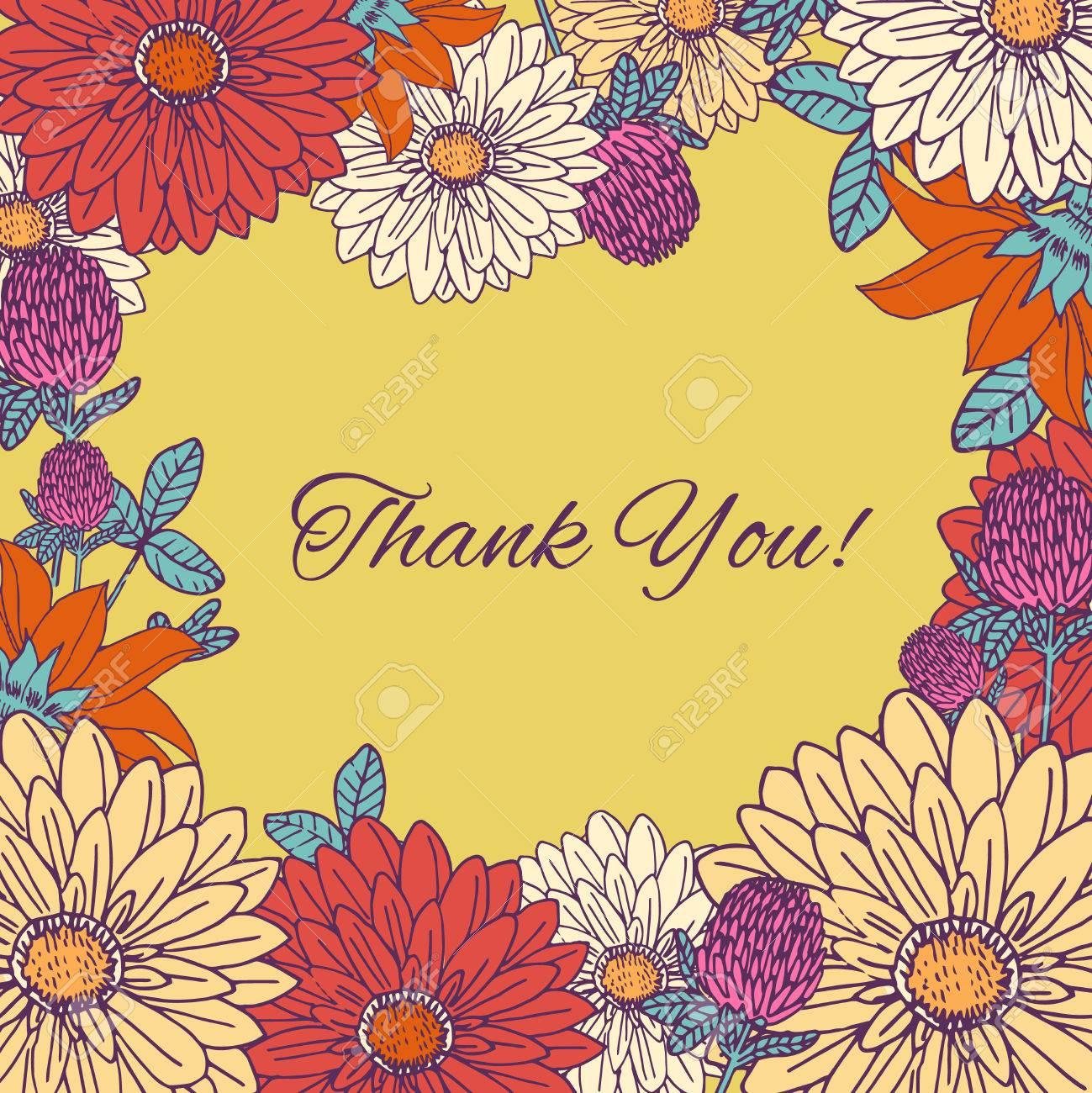 Vintage flowers hand drawn thank you greetings postcard background vintage flowers hand drawn thank you greetings postcard background vector illustration foto de archivo 37809515 kristyandbryce Choice Image