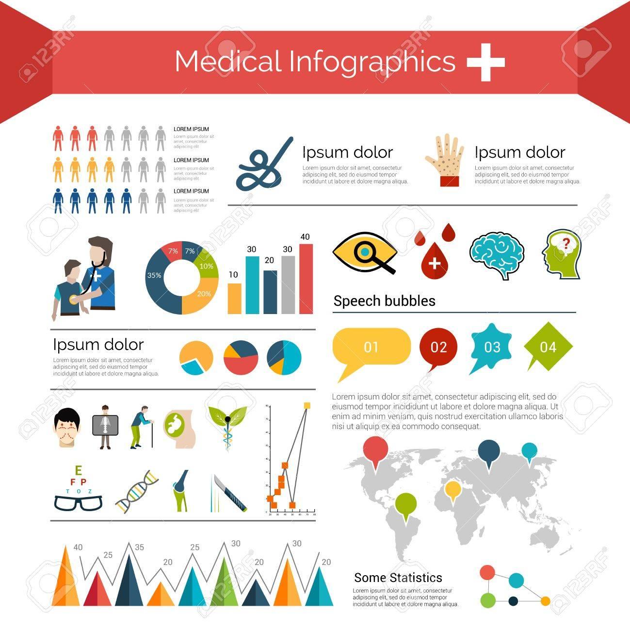 Infografía Médica Establecidos Con Las Cartas De Los Símbolos De La ...
