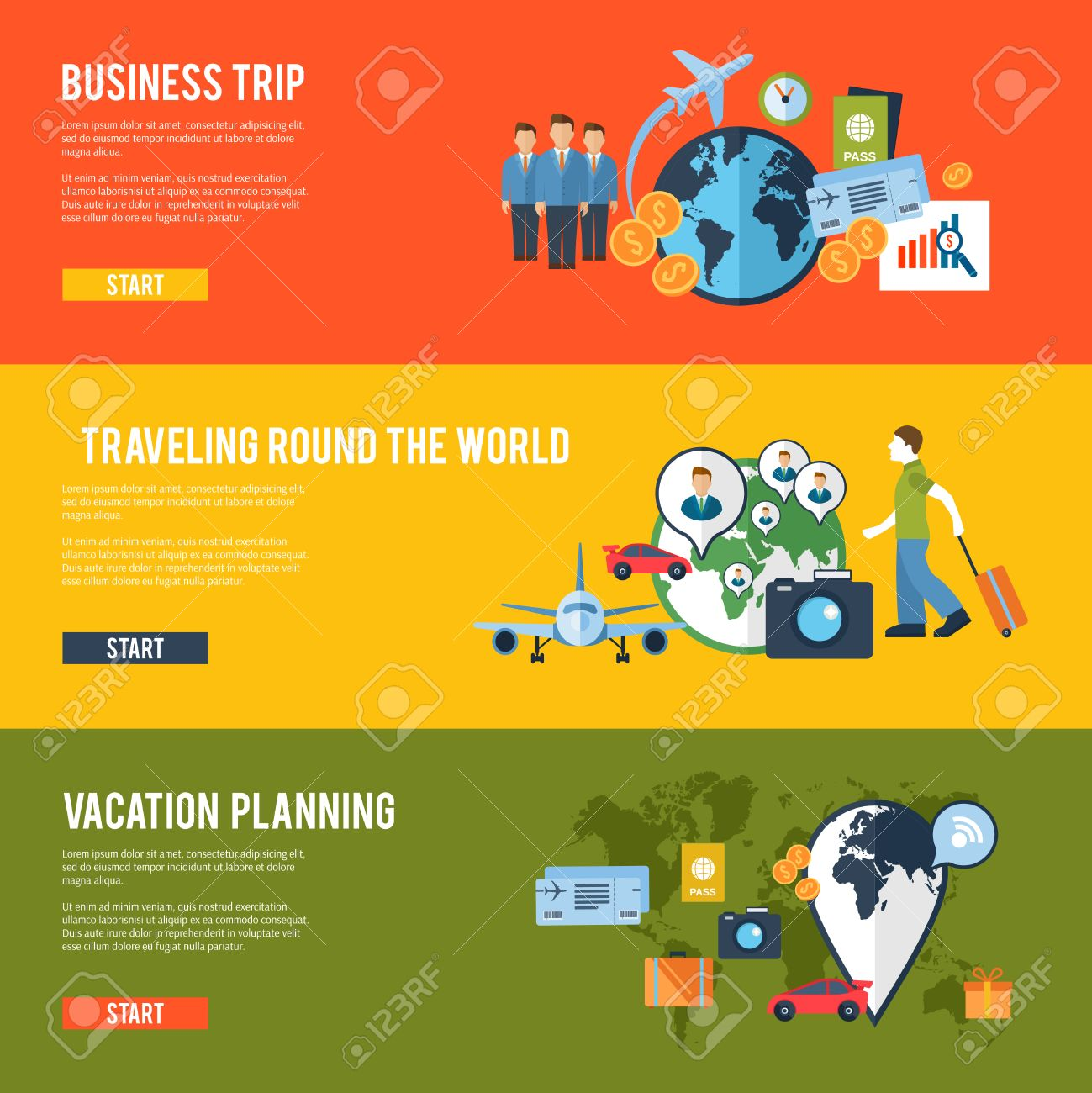 round the world business team meeting traveling route trip planning