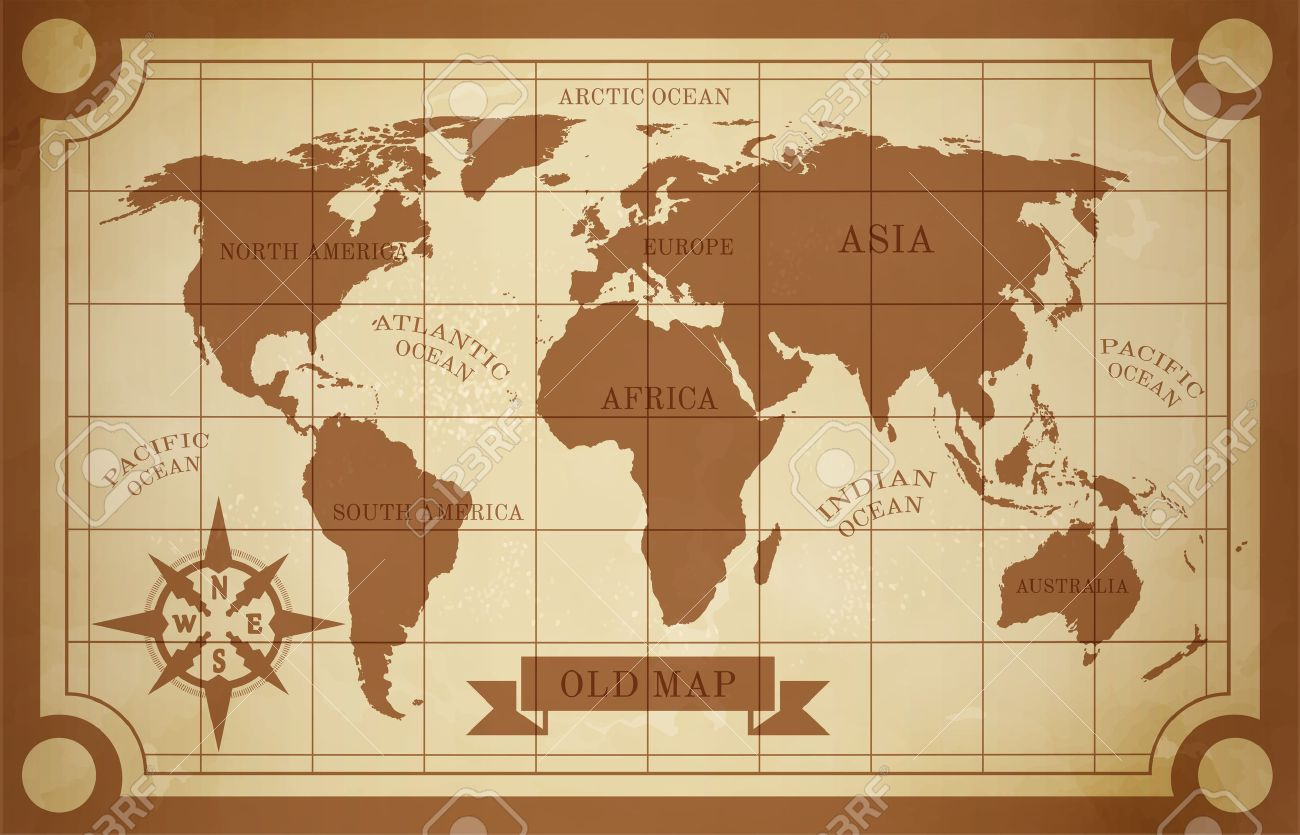 Old style world map vintage document travel poster vector old style world map vintage document travel poster vector illustration stock vector 37811632 gumiabroncs Images