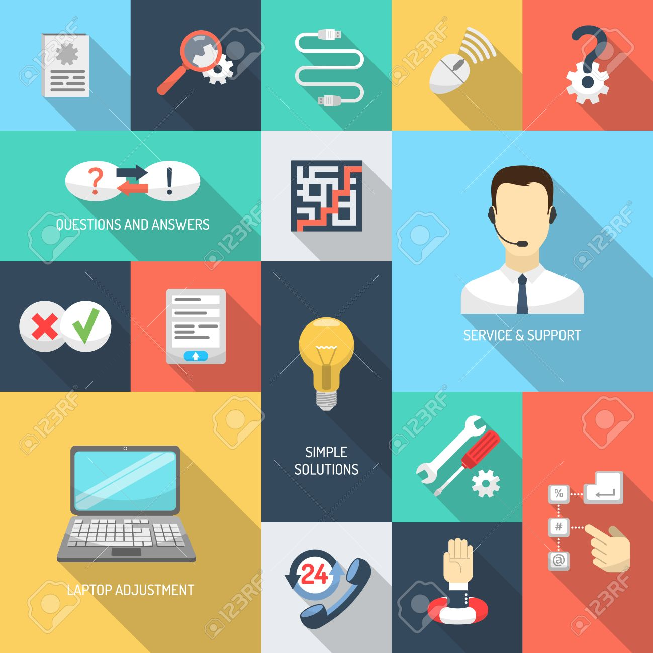 help desk icon images stock pictures royalty help desk help desk icon support service simple questions and answers solutions icons flat set isolated vector