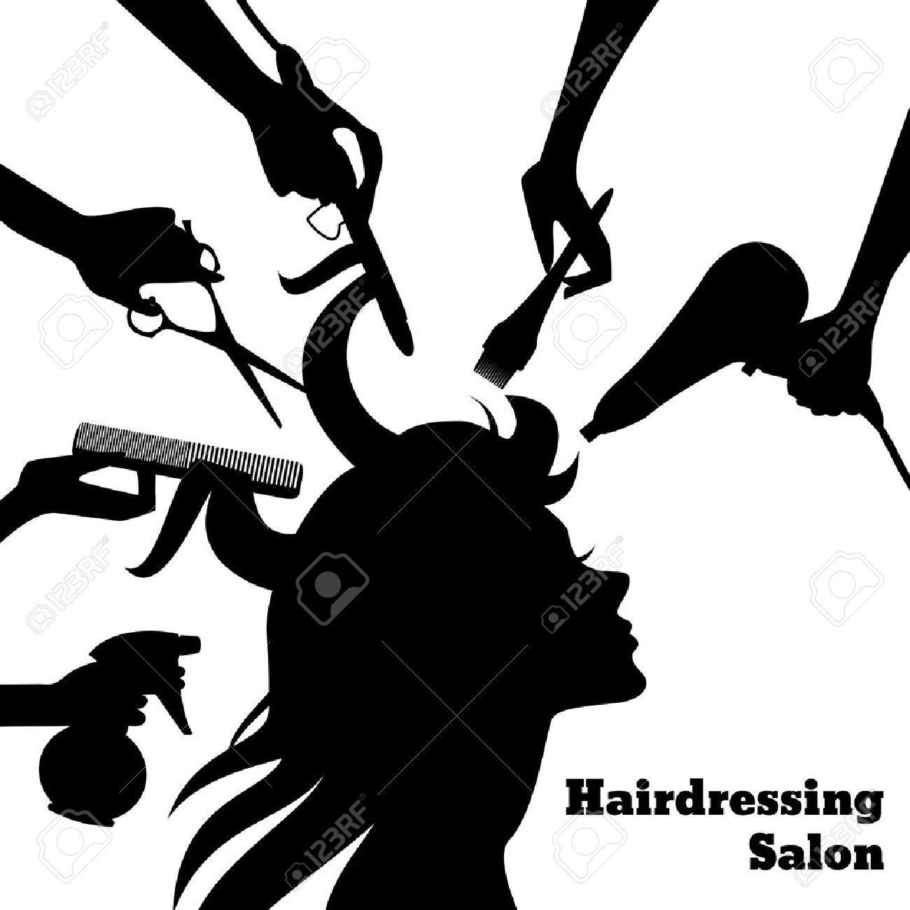 5,252 Hairdresser Brush Stock Vector Illustration And Royalty Free ...
