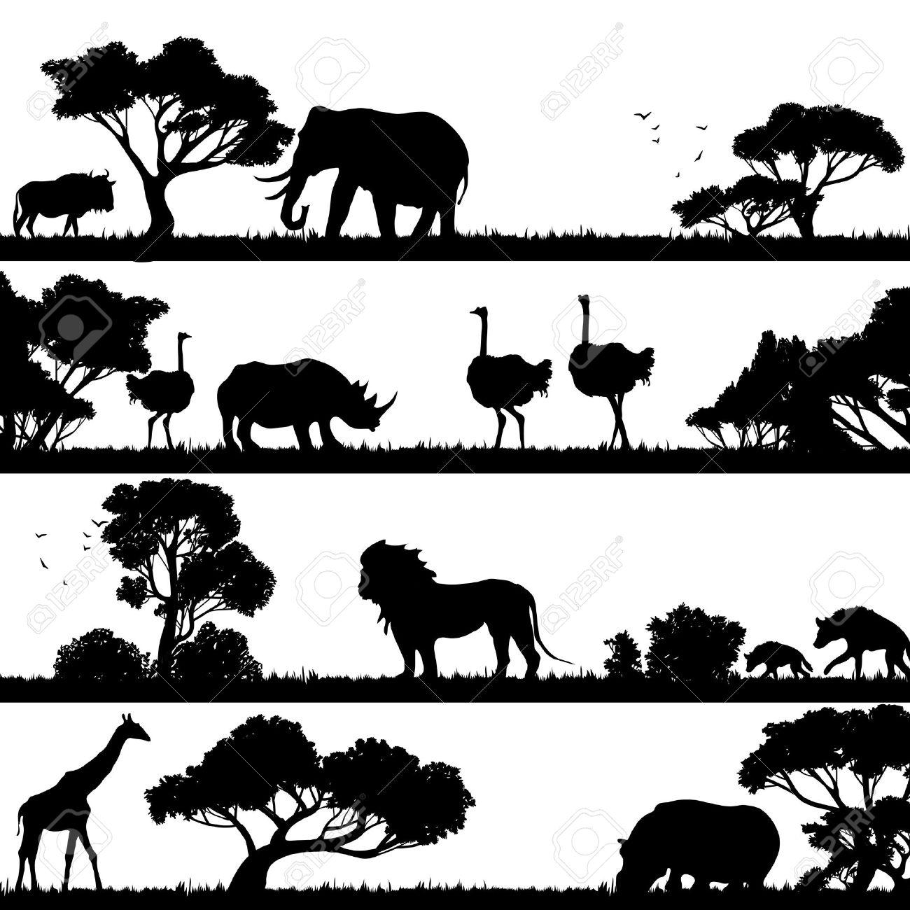 シルエット イラスト 動物 | 7331 イラス