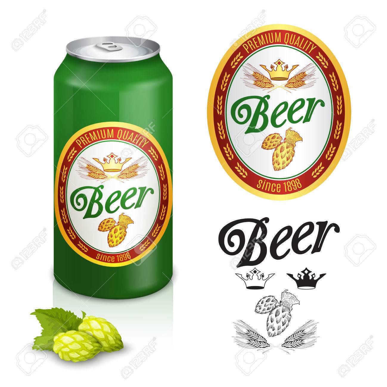 Premium-Qualität Goldenen Kronen Biermarke Emblem Design Für Dosen ...