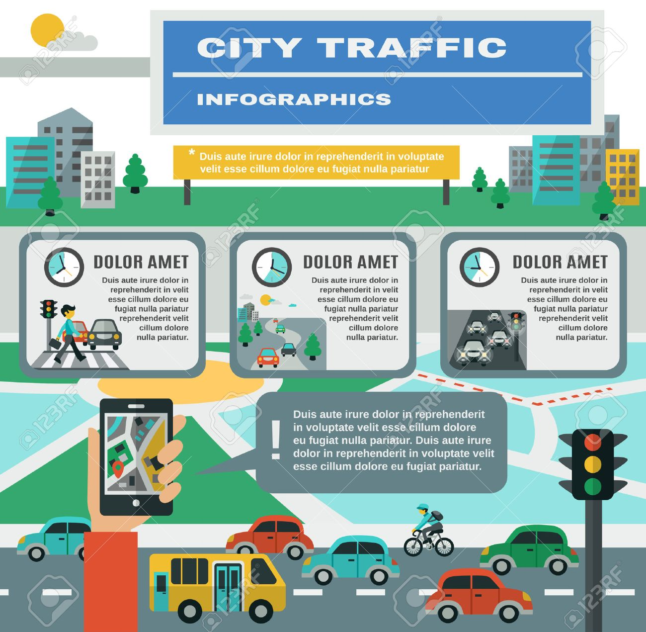 City traffic infographics set with cars gps map symbols vector city traffic infographics set with cars gps map symbols vector illustration stock vector 41534422 biocorpaavc