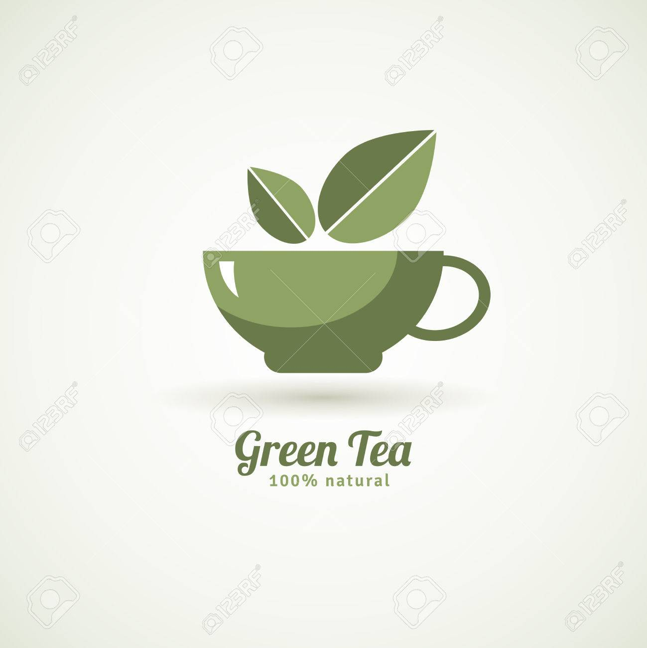 お茶葉デザイン アイコン白背景印刷抽象的なベクトル イラストをポスター