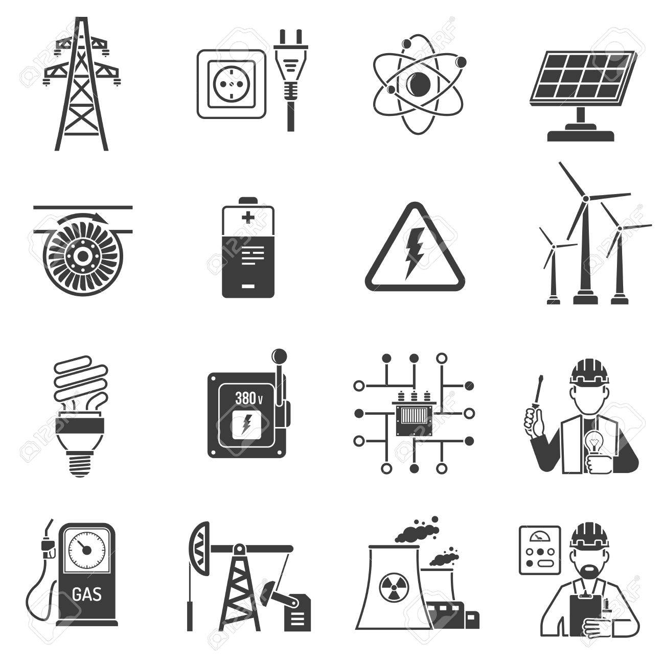 Oil and gas industry energy power production and transmitting oil and gas industry energy power production and transmitting symbols black icons set abstract vector isolated biocorpaavc