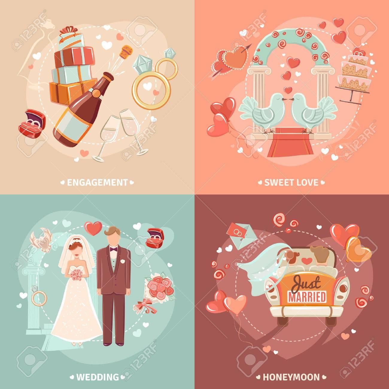 El Matrimonio Y El Compromiso Del Partido Invitación Nupcial De 4 ...