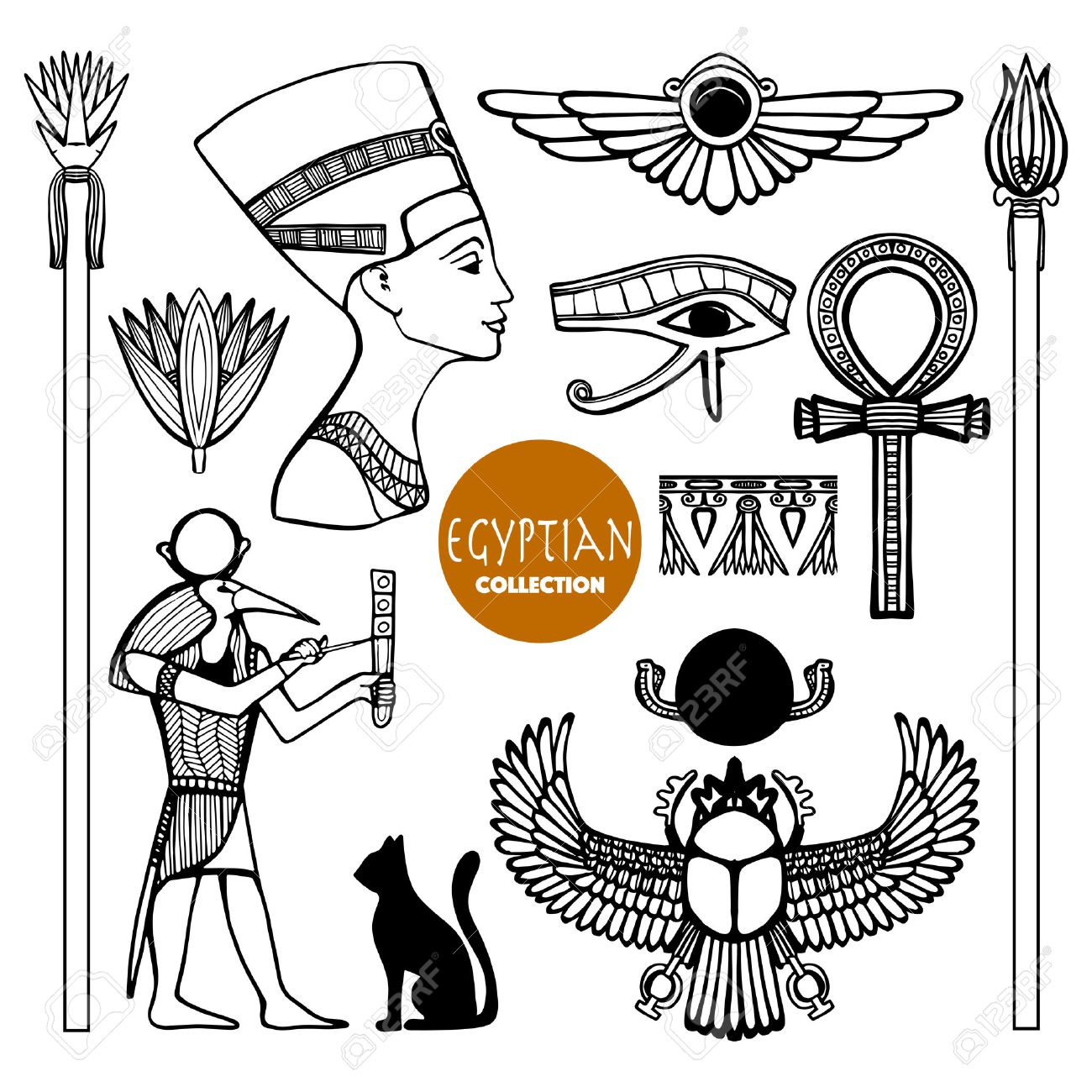 Egypt set with ancient god symbols and ornaments isolated vector egypt set with ancient god symbols and ornaments isolated vector illustration stock vector 45804493 biocorpaavc