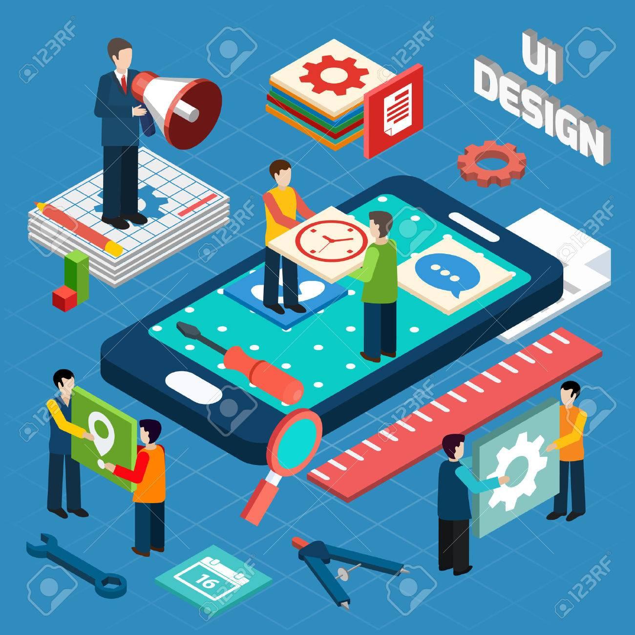 Banque d images - L ingénierie de l interface utilisateur pour les  appareils électroniques et les appareils mobiles notion pictogrammes  conception de ... 917c2276f011