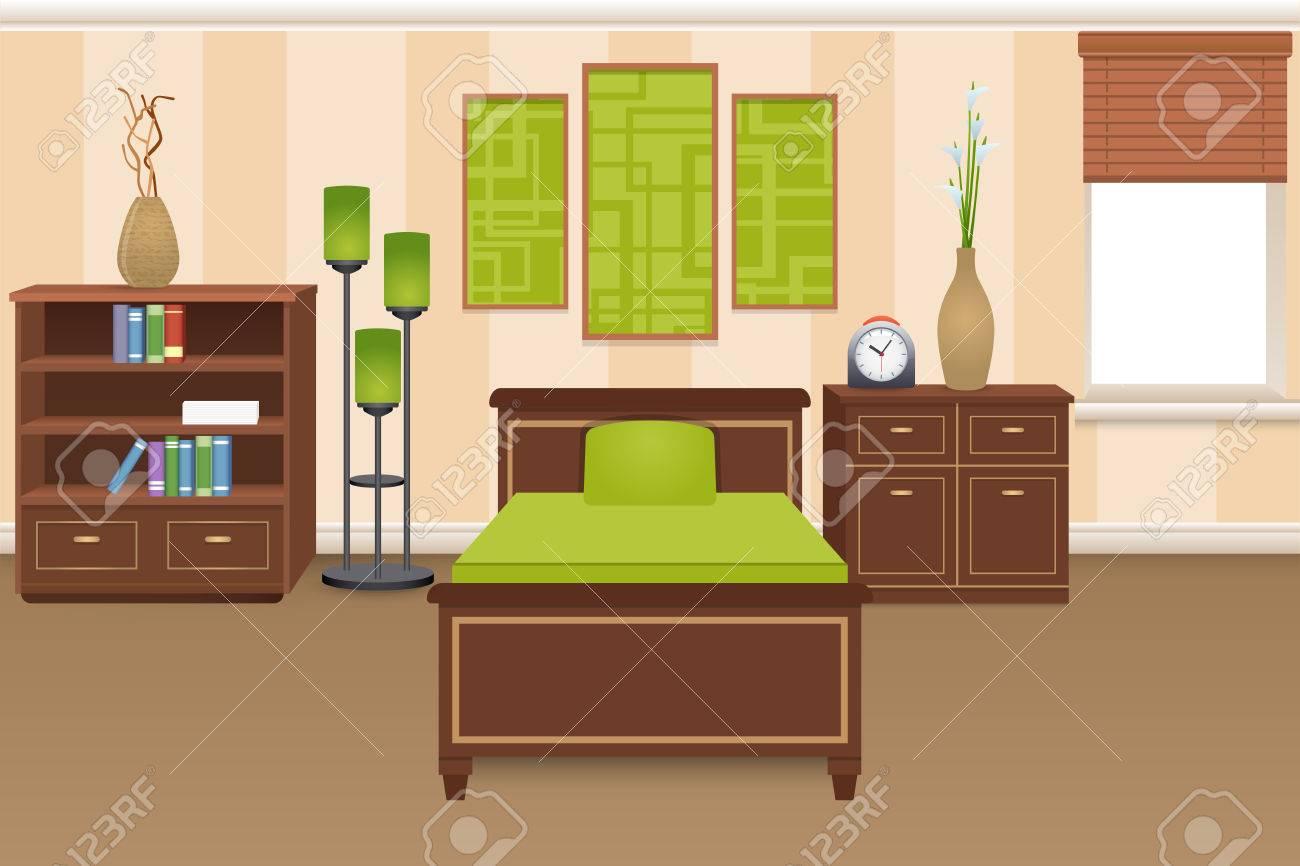 Chambre Concept D Interieur Avec Des Etageres De Lit Et Une Armoire
