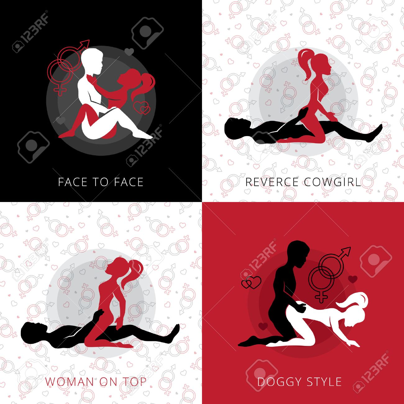 kama sutra love position square design concept set of reverse