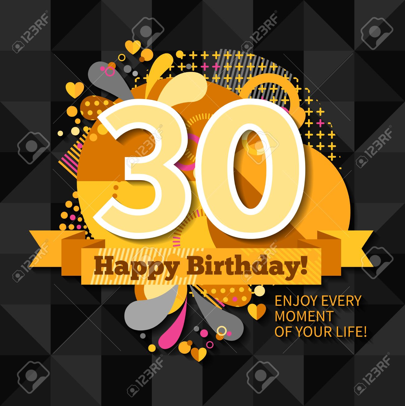 30th Anniversary Greeting Card With Wishes Happy Birthday And