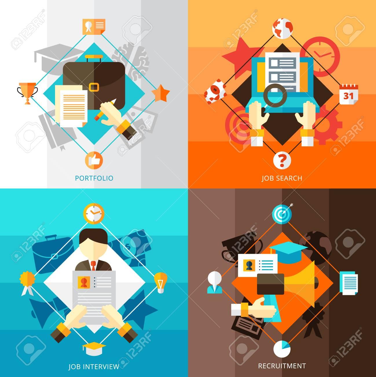 Reanudar Conjunto De Diseños De Concepto Plana 2x2 De Búsqueda De ...
