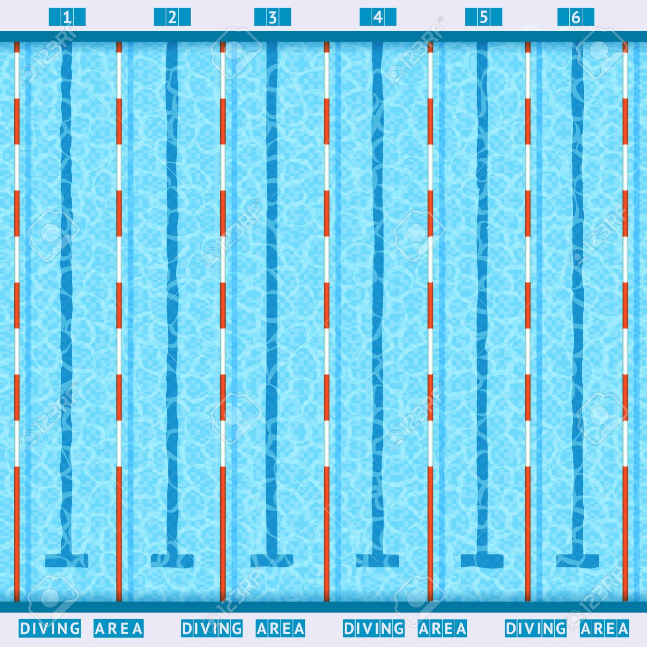 Swimming Pool Lanes Background sports competition swimming pool deep bath lanes top view flat