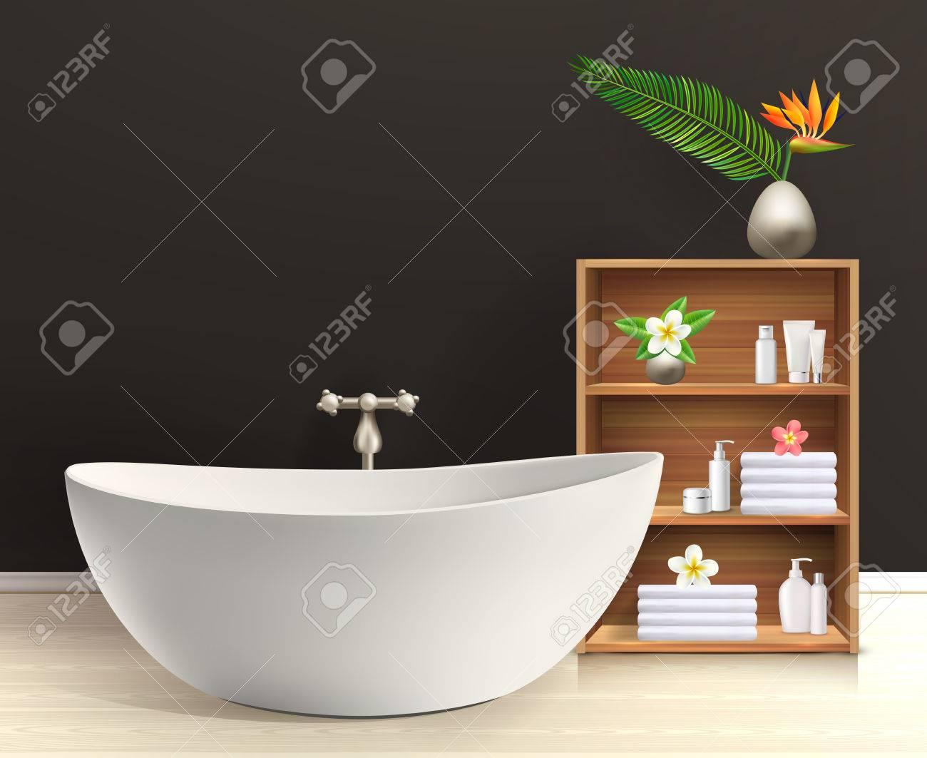 Badezimmer Inter Plakat Bad Im Retro Stil Badezimmer Mit Mobel