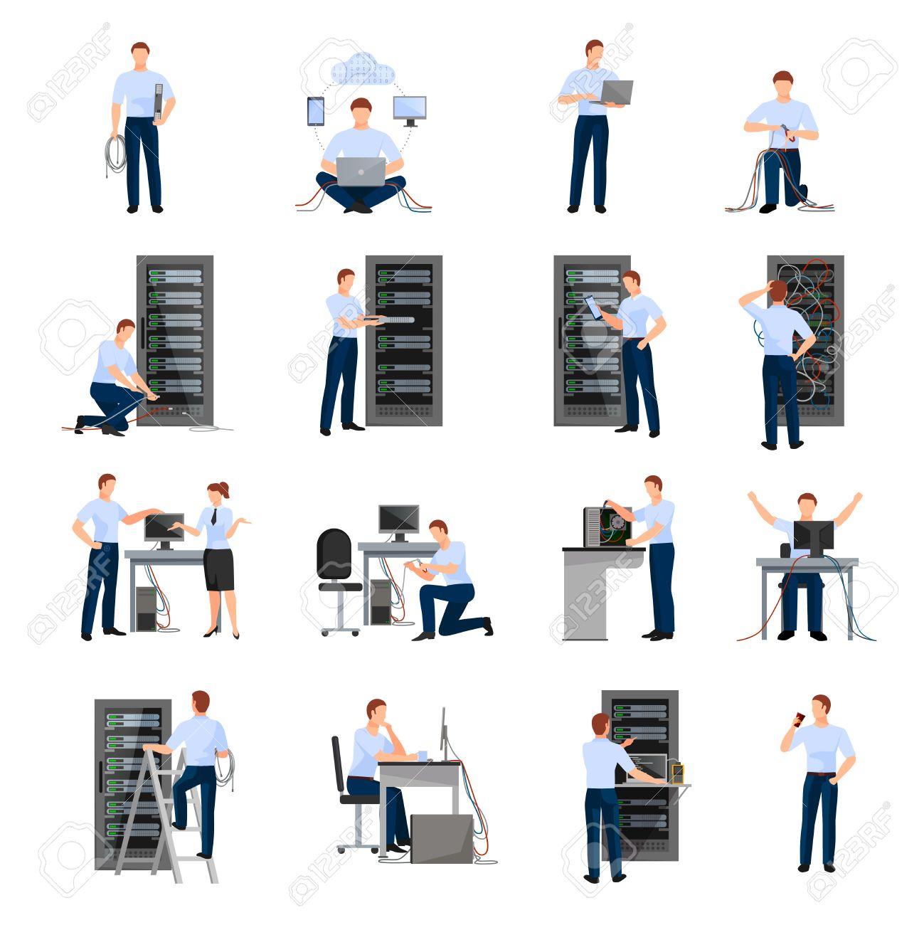 システム モジュールの分離ベクトル図の保守に関係するサーバー ラック