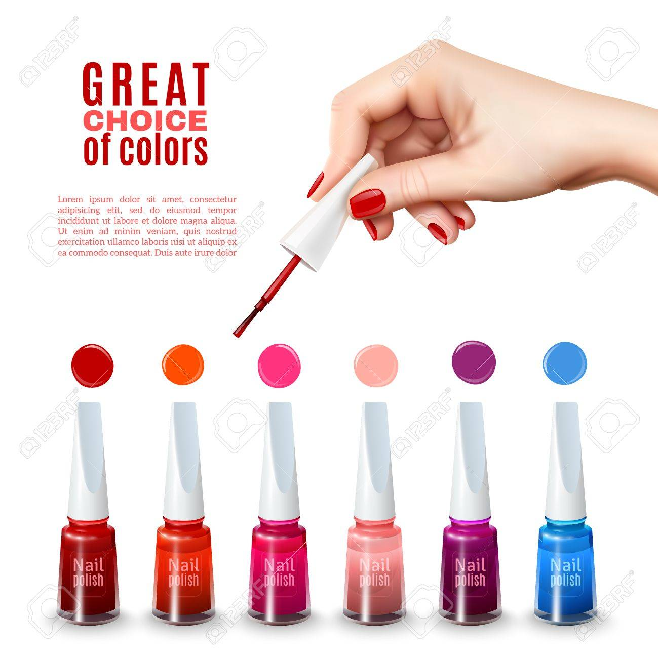 Best Choice Of New Tints Nail Polish Colors With Beautiful Hand ...