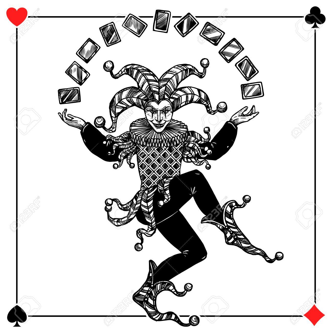 Joker card background with spades hearts diamonds and clubs flat joker card background with spades hearts diamonds and clubs flat vector illustration stock vector 60299187 maxwellsz
