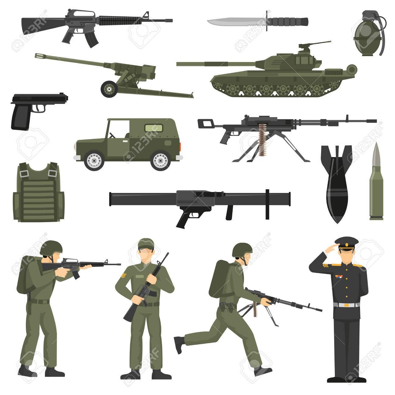軍軍隊の兵士役員軍人弾薬武器機械オリーブ カーキ抽象的なベクトル