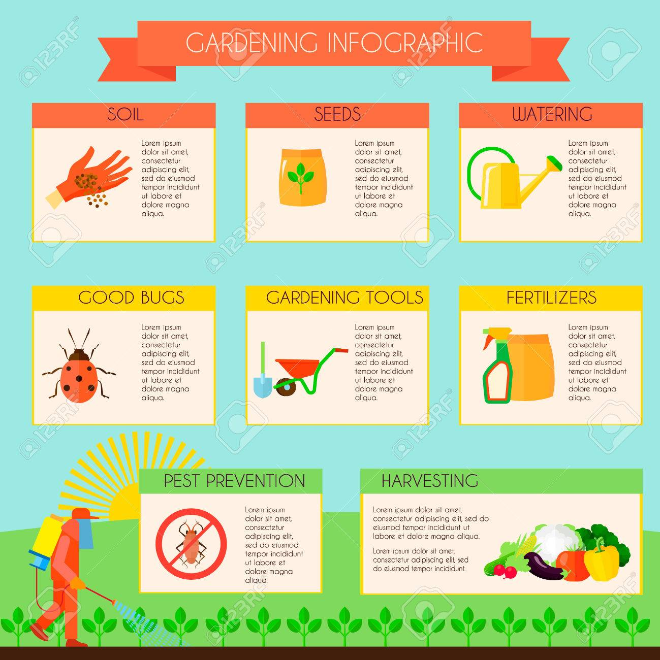 65127570-gardening-infographic-set-with-