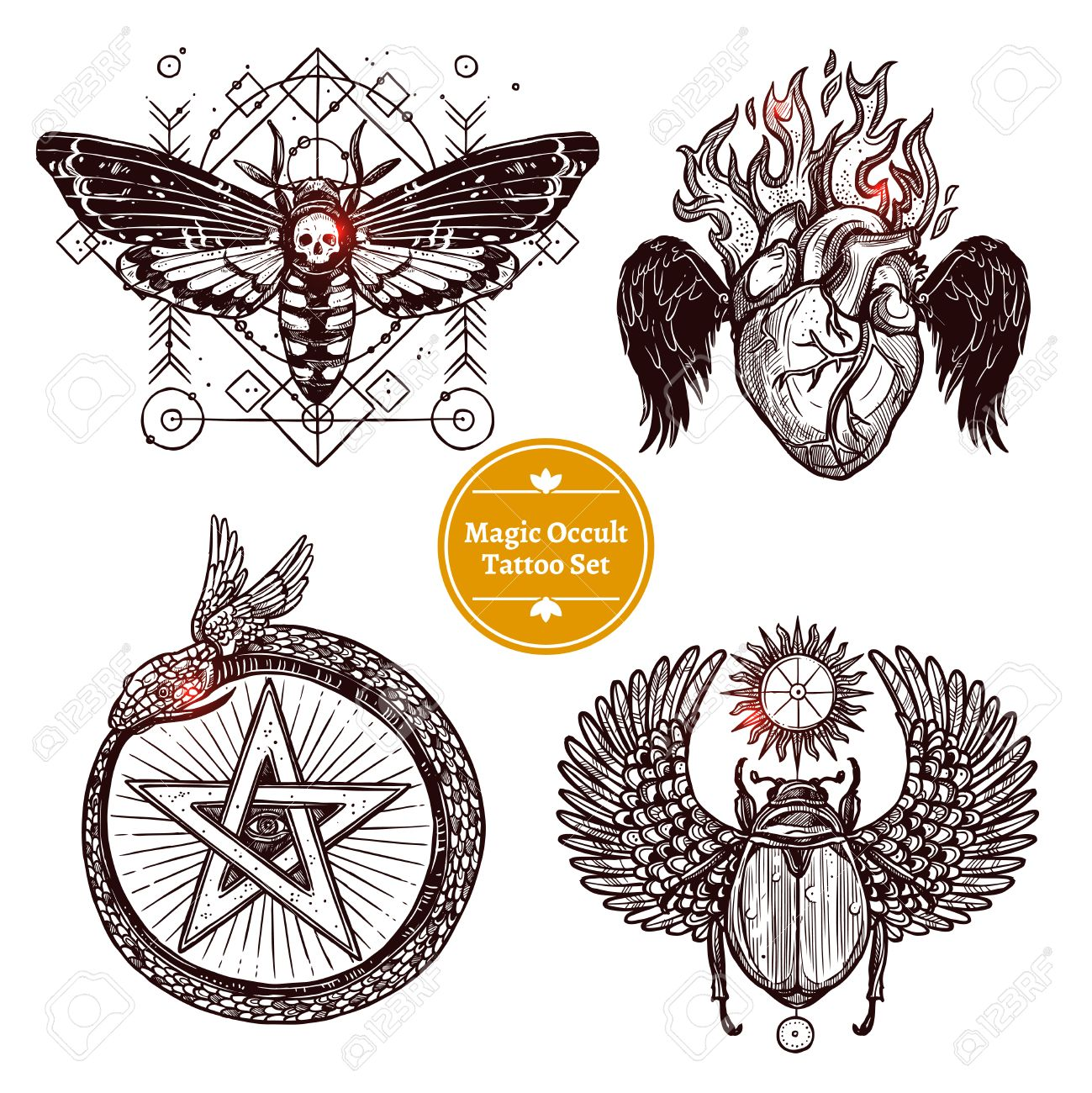 Occult tattoo sketch concept occult tattoo hand drawn set magic occult tattoo sketch concept occult tattoo hand drawn set magic modern tattoo illustration biocorpaavc Image collections