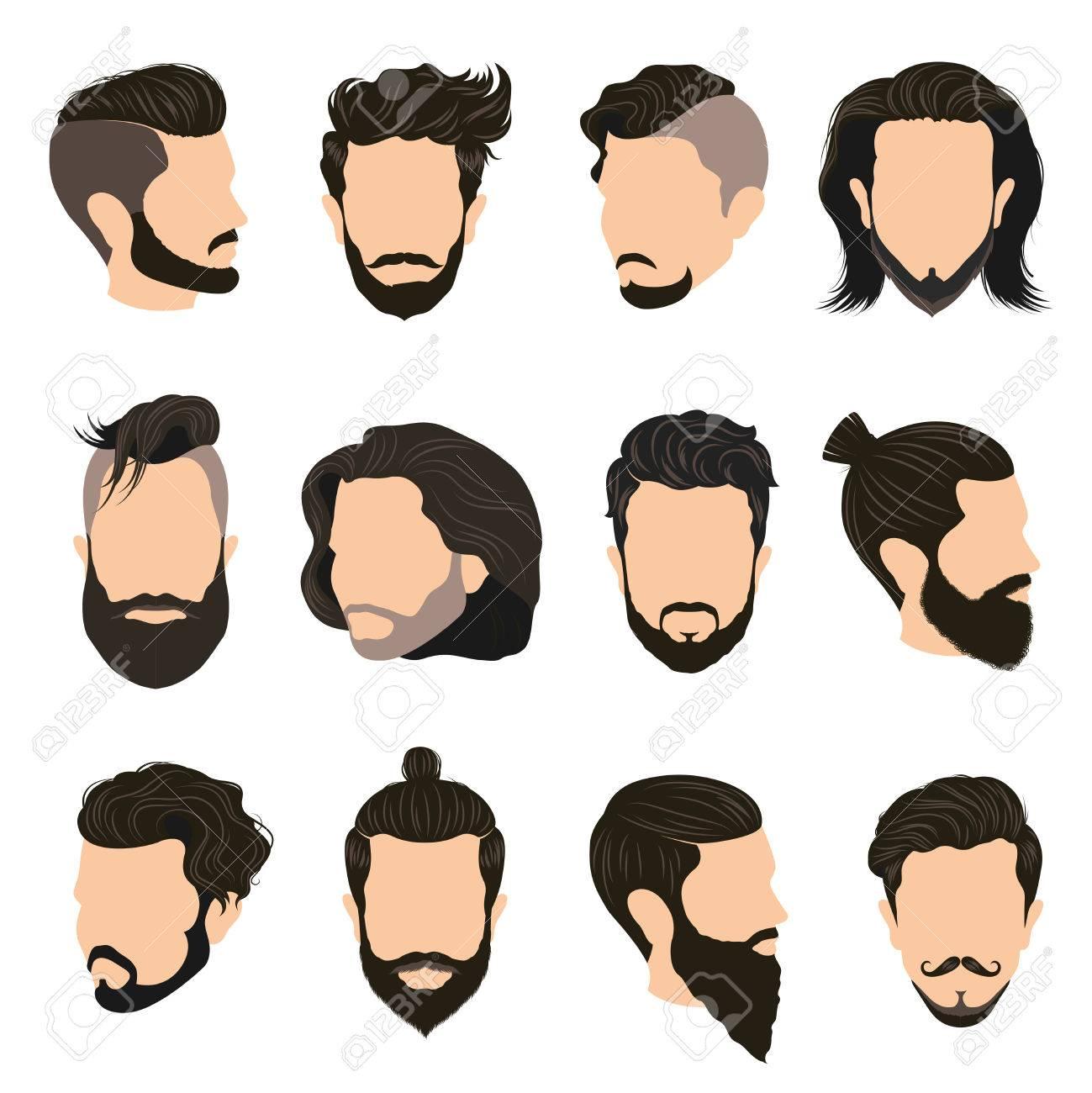 髪型 イラスト 男性
