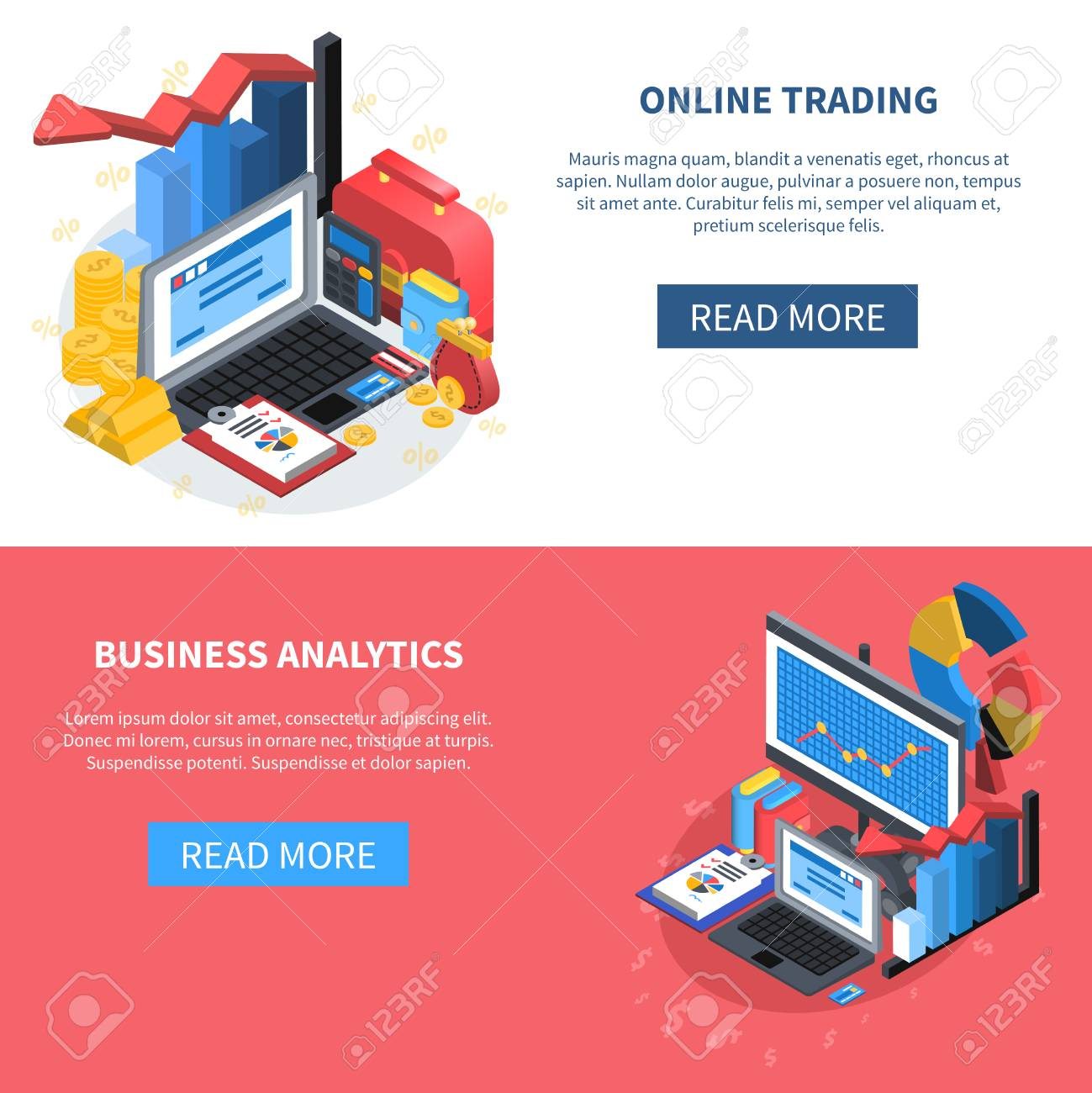 Business Analytic Banners Panda Banners