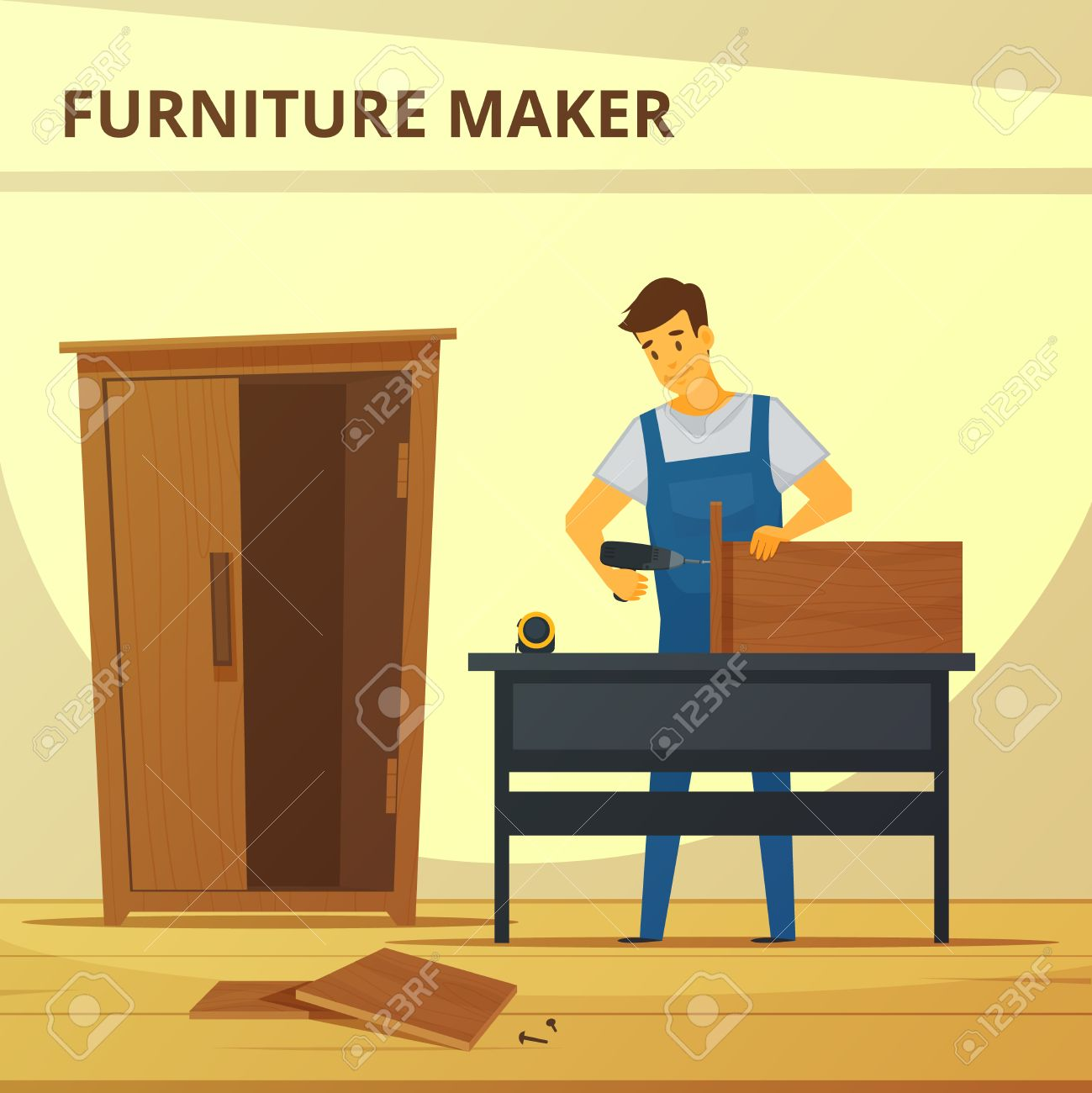105 Cabinet Maker Stock Illustrations, Cliparts And Royalty Free ...