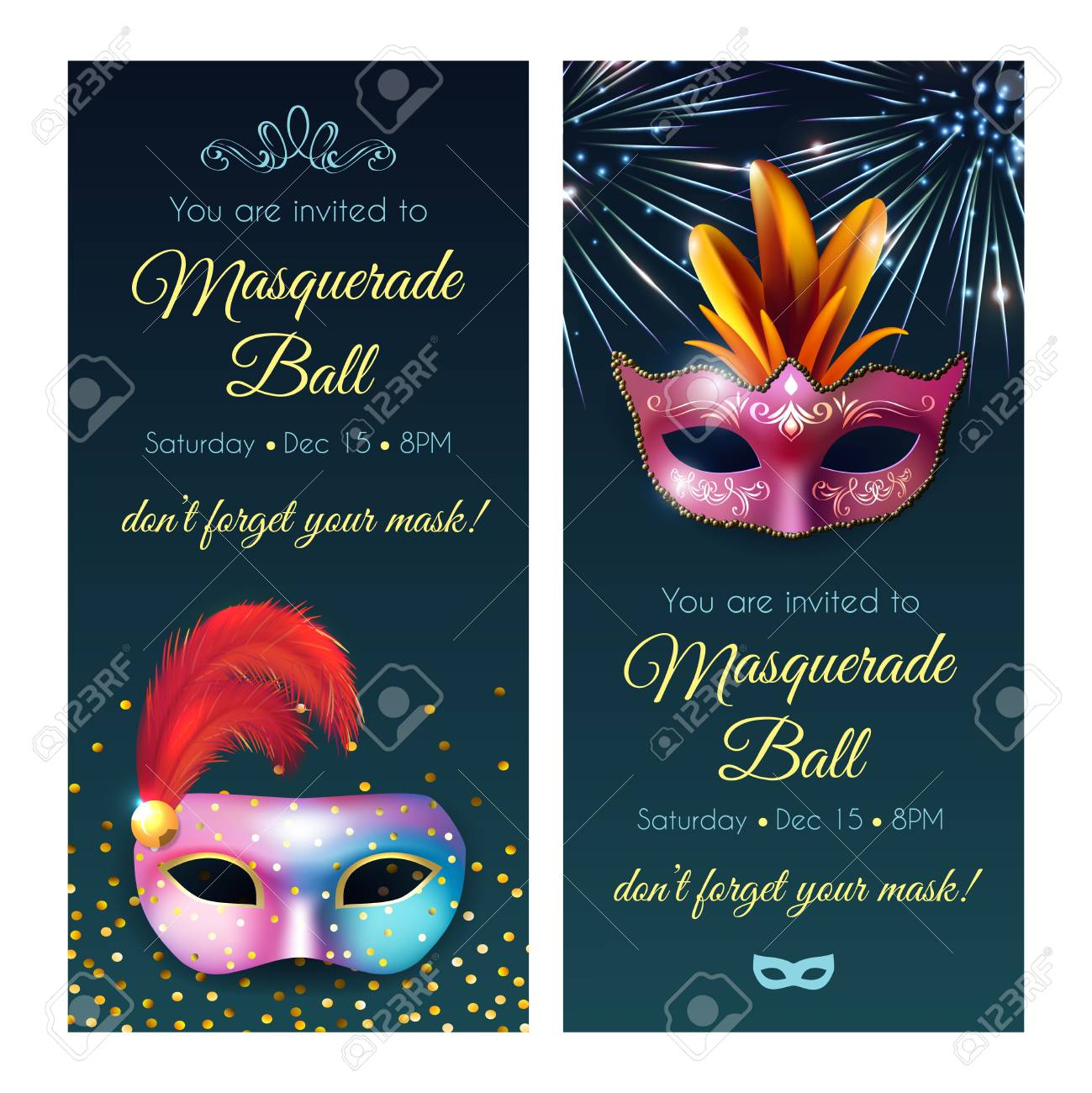 Masquerade Invitation Ideas