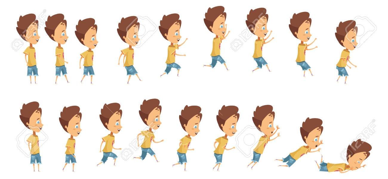 Animation With Frame Sequence When Jumping Running And Falling ...