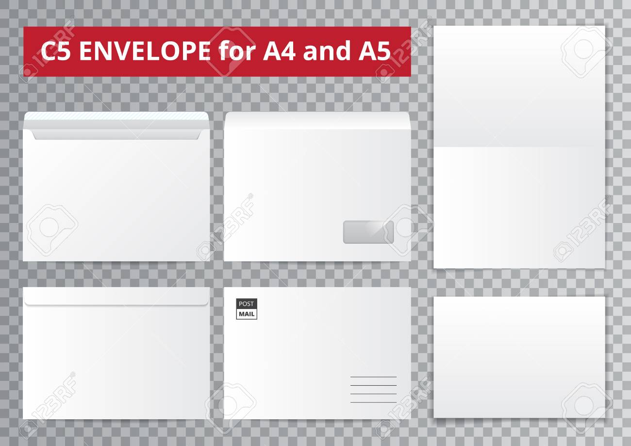 office documents template set with isolated blank paper sheet