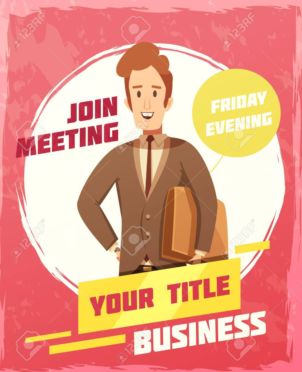 Business meeting poster with invitation and date symbols cartoon business meeting poster with invitation and date symbols cartoon vector illustration stock vector 82189931 stopboris Image collections