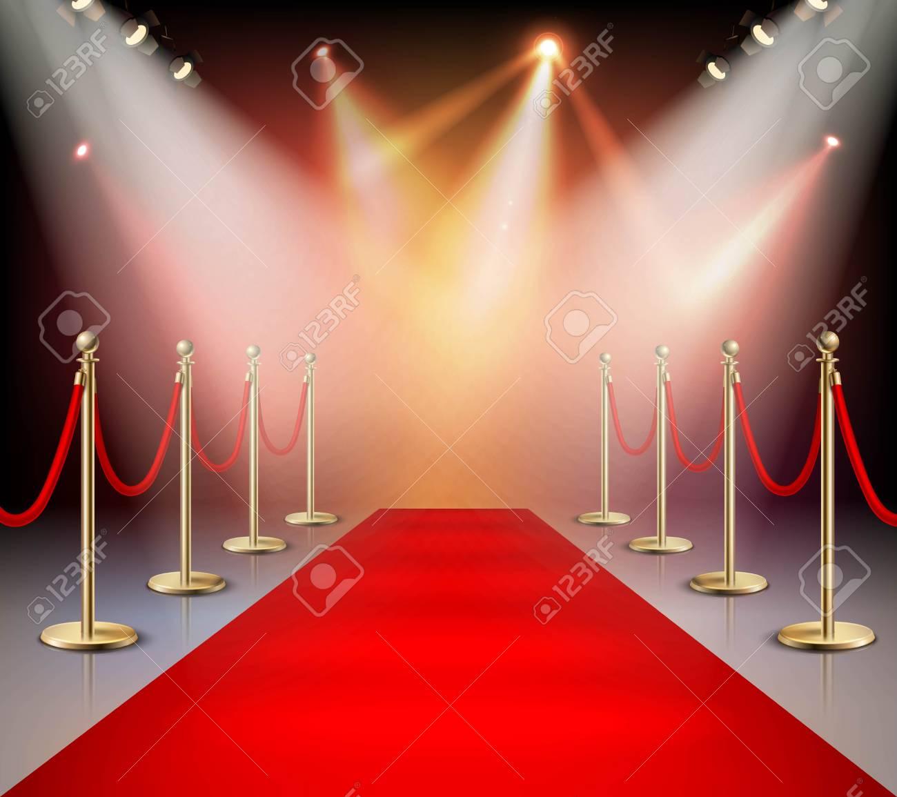 realistic red carpet in illumination composition event or award rh 123rf com red carpet victoria secret shanghai 2017 red carpet vector free