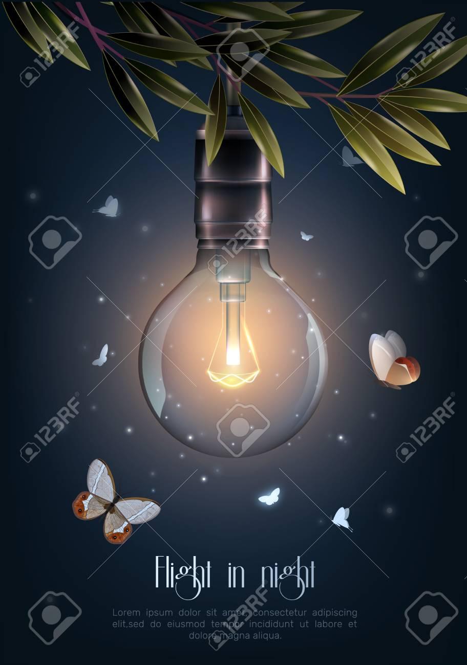 Glowing light bulb icon. - 92051705