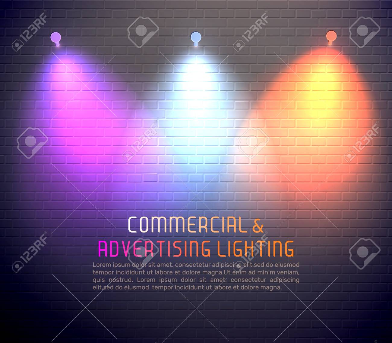 colored light effects for commercial use vector illustration royalty