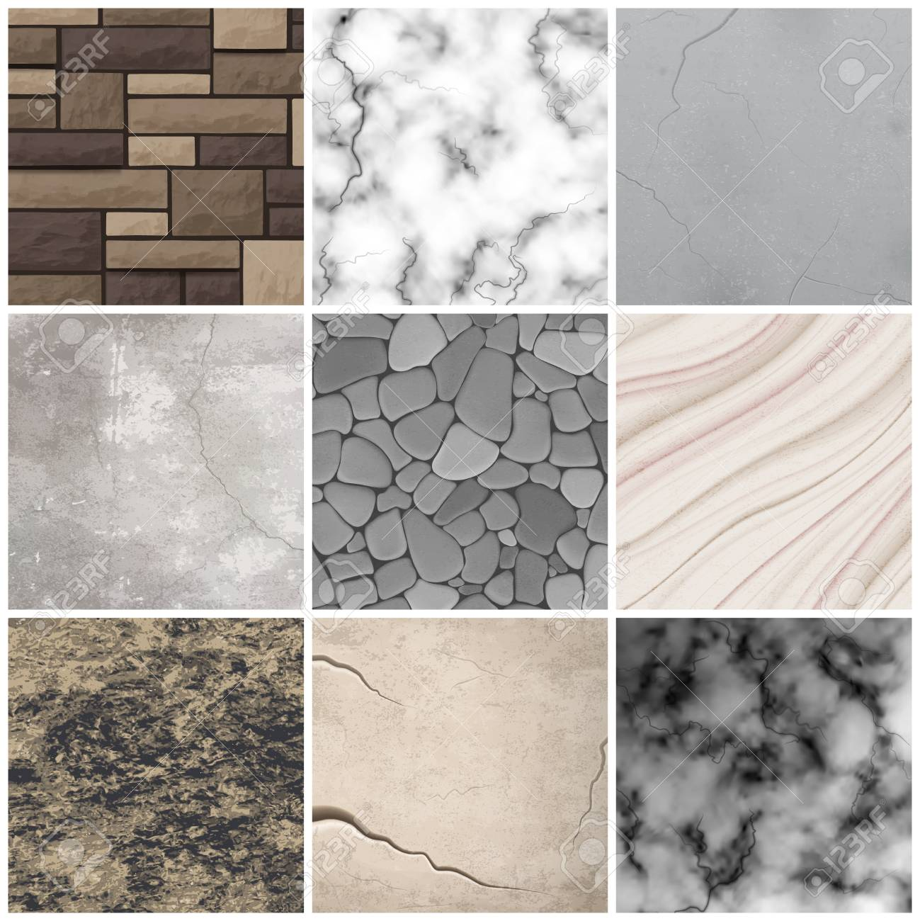 Realistic Cladding Stone Marble And Rectangular Tiles Texture Royalty Free Cliparts Vectors And Stock Illustration Image 93058258