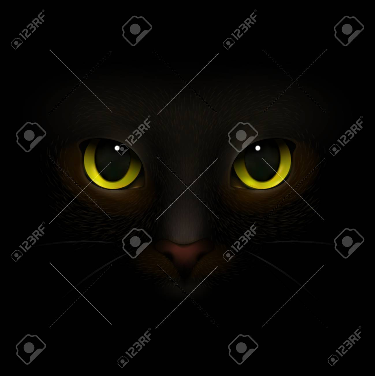 Animals Monsters Realistic Composition With Feline Eyes And Nose Royalty Free Cliparts Vectors And Stock Illustration Image 95058729