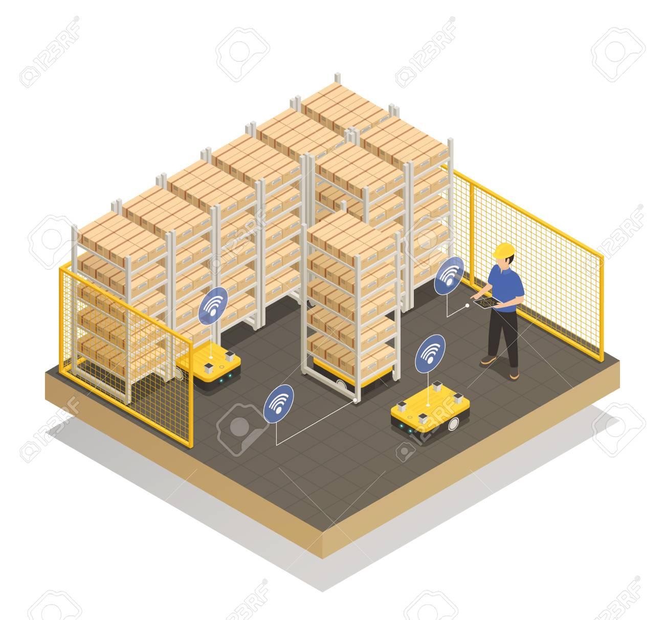 Smart industry machine intelligence in manufacturing storage unit - 96836901