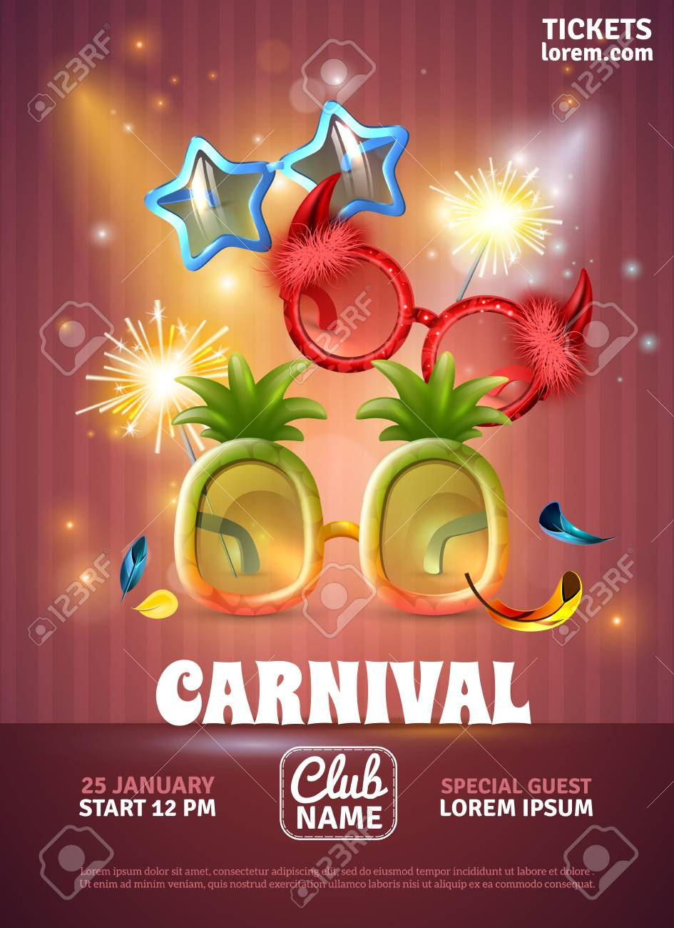 Christmas Carnival Poster.Christmas Party Celebration Carnival Special Club Invitation