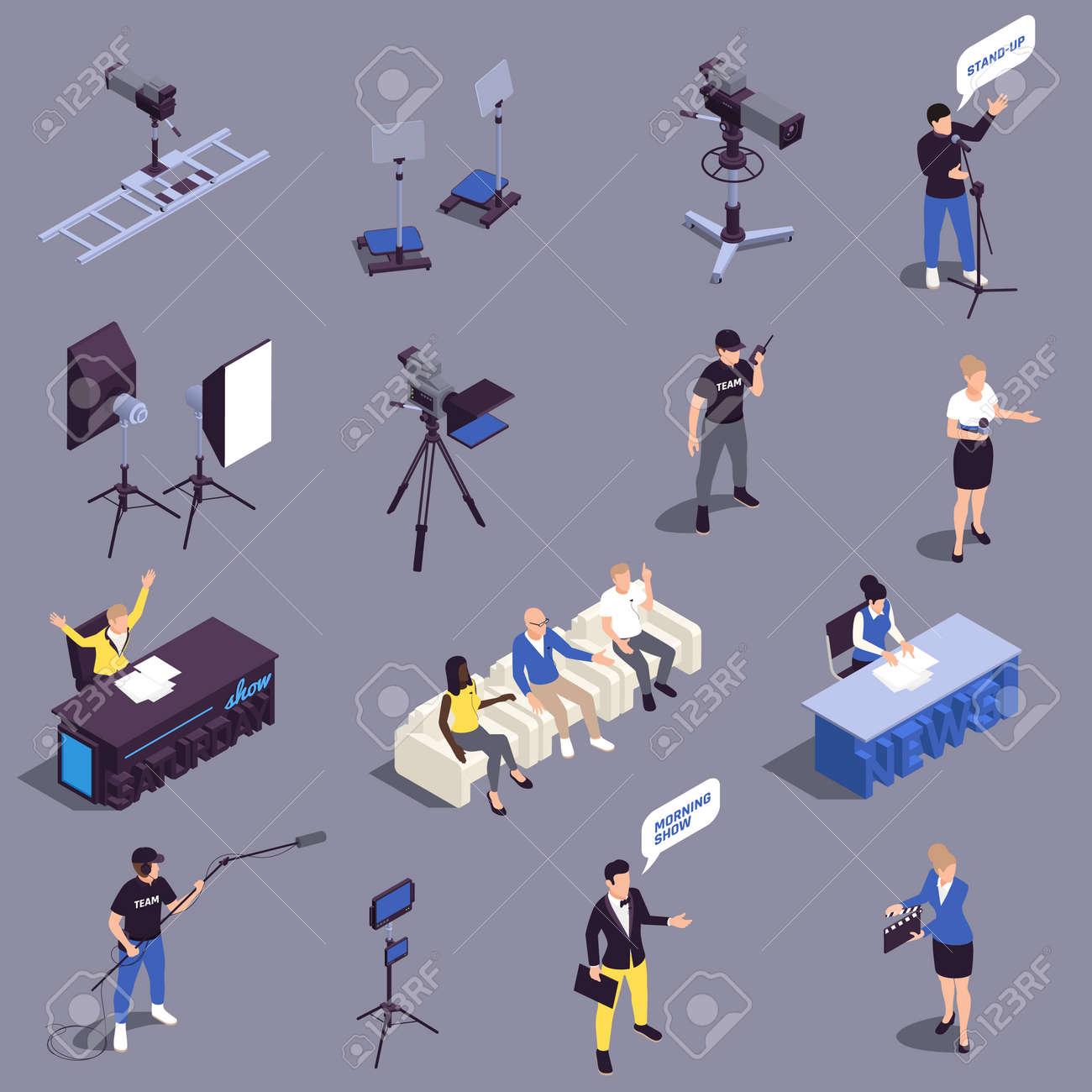 TV Show Icons Set - 171636202